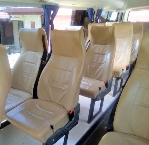 Bus for hire interior